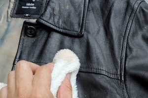 how to hand wash a leather jacket