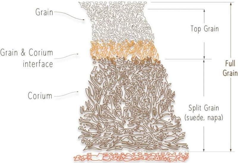 Full Grain vs Top Grain vs Split Grain vs Corrected Grain Leather