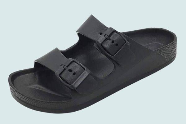 FUNKYMONKEY Women's Comfort Slides Flat Sandals